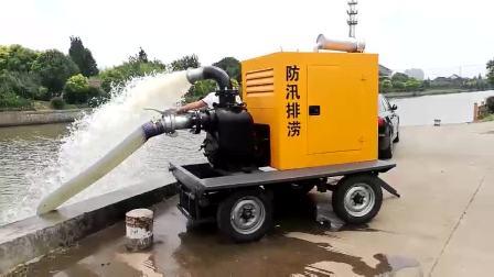 6寸8寸農田灌溉柴油機水泵 12寸應急移動泵