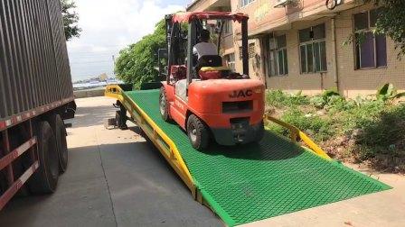 载重10吨移动液压式集装箱装卸货平台