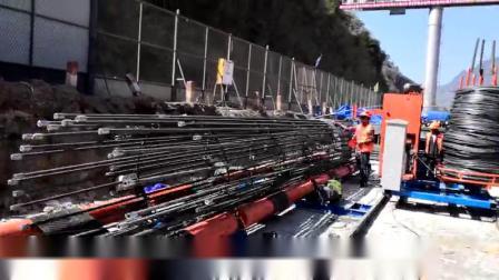 钢筋笼绕筋机现场施工