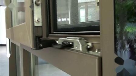 兴发铝业旋开内倒平移窗扇下滑演示