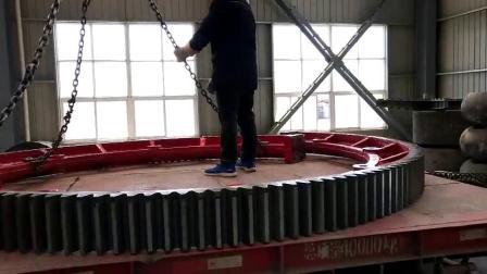 2.4米固废回转窑焚烧炉大齿轮齿圈厂家