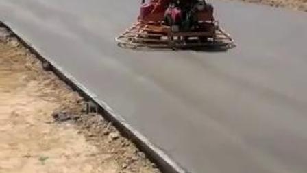 座駕式雙盤磨光機混凝土道路路面抹光收光