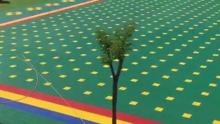 广西弹性垫篮球场拼装地板广西弹垫悬浮地板厂家