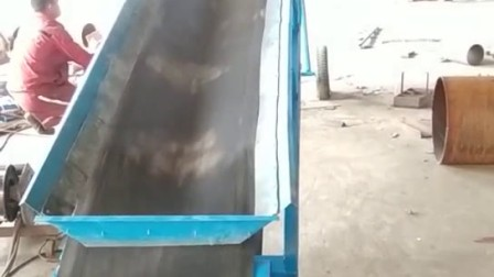 方管主架加挡边皮带输送机视频