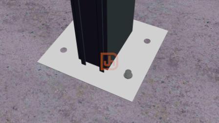 兴发智慧型挂钩式幕墙立柱上下两端与建筑主