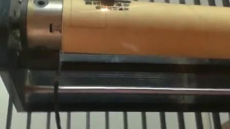 750型竹筒木雕自動旋轉鐳射雕刻機配升降平臺