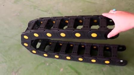 加強尼龍塑料拖鏈 封閉橋式坦克連 耐高溫尼龍鏈條