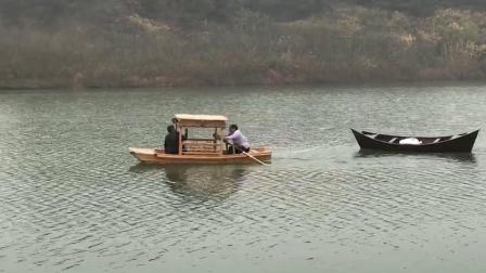 中式手划船
