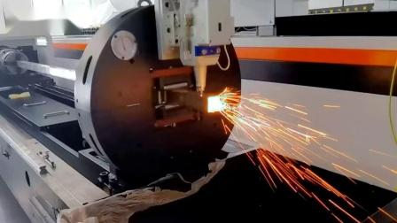 深圳银涛2000W大功率钣金板管一体激光切割机