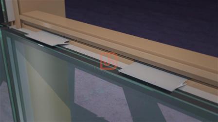 兴发智慧型挂钩式幕墙玻璃板块的安装方式