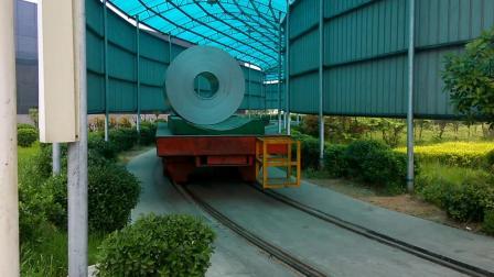 大吨位载重遥蓄电池转弯电动平板车智能电梯转运无动力轨道车