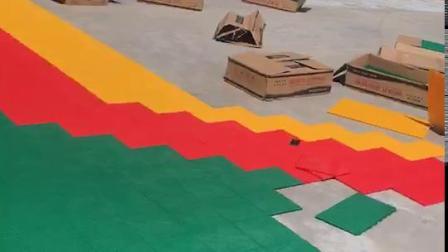 幼儿园跑道施工