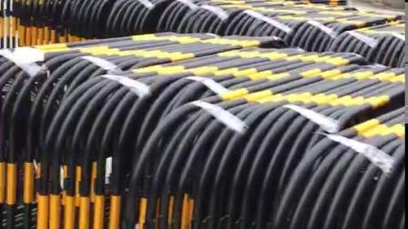 移动PE橡胶警示柱柱道口标柱诱导柱塑料反光柱