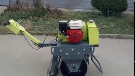 手扶单轮压路机视频
