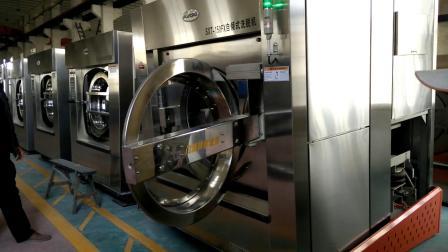 工業用洗衣機 全自動洗脫兩用機 自傾式洗離線