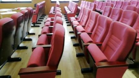 广东学校机关报告厅带学字桥板礼堂椅