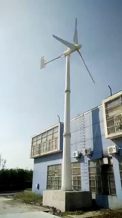 微型铝合金发电机500瓦增强玻璃钢叶片发电量大