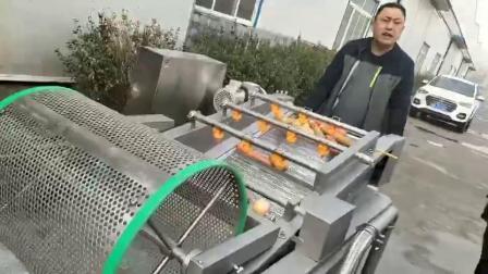 果蔬气泡清洗机 商用连续式喷淋清洗流水线