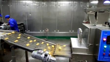 鱼排酥上浆裹糠生产线