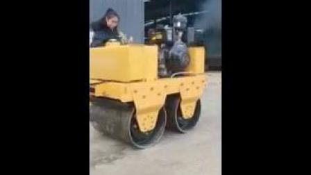 华科草坪压实小型压路机 振动双钢轮压路机