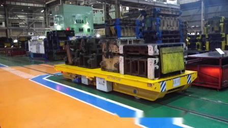 百特智能轨道平车运输模具视频