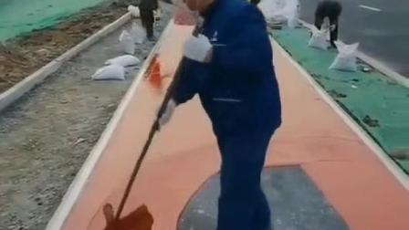 彩色陶瓷防滑路面施工厂家湖北广纳石化