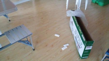 铝合金连体折叠桌椅