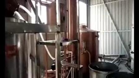 新疆客户白兰地蒸馏现场视频