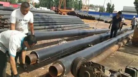 高密度聚乙烯聚氨酯保溫管 直埋式預製保溫管 聚氨酯發泡保溫管DN100
