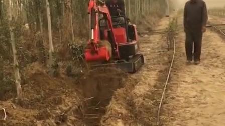 農用履帶式挖掘機 果園微型挖掘機工程園林迷你挖溝機