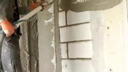 喷涂设备喷水泥砂浆视频
