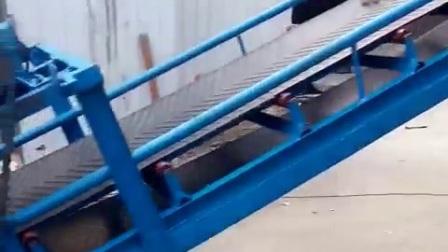 散料可升降輸送機 玉米貨物爬坡輸送機
