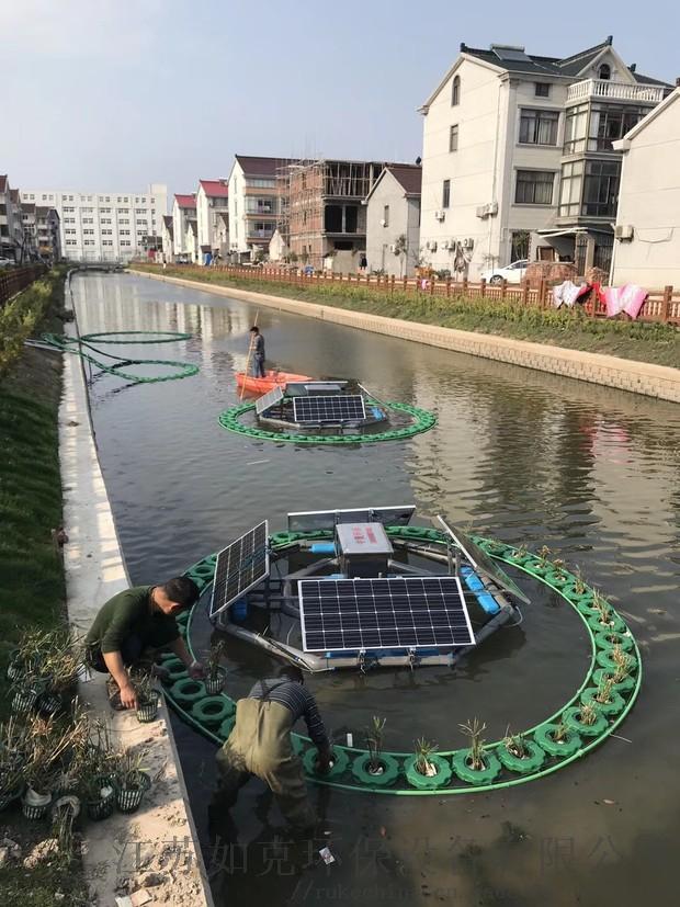 太阳能河道曝气机为您讲解水体修复的几种方
