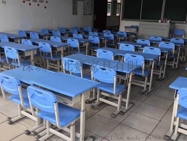 单人学生课桌椅钢塑升降课桌椅厂家直销