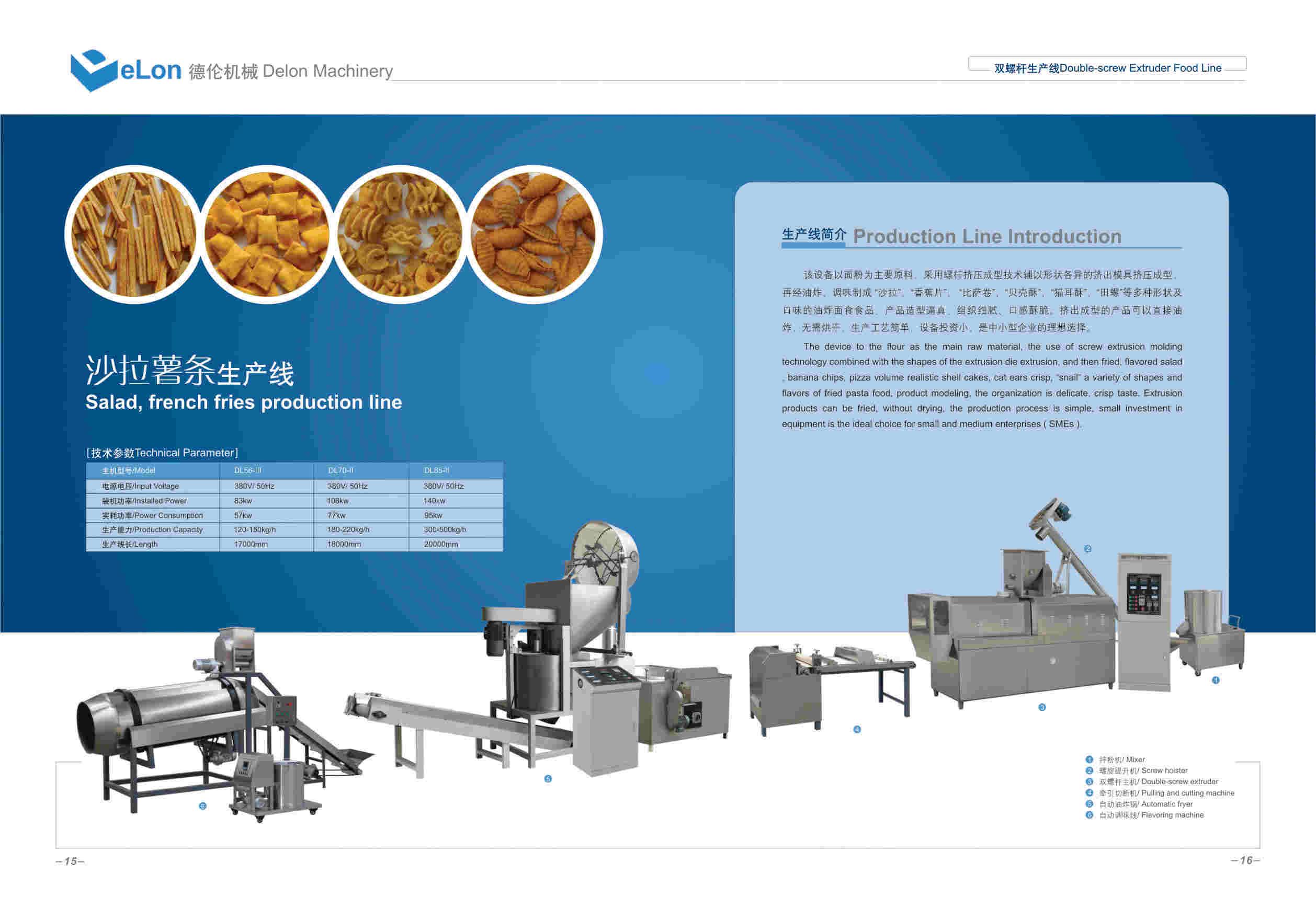 螺旋、贝壳食品生产线